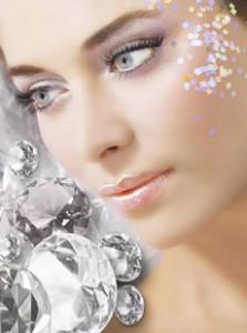 Новогодний макияж - Бриллиантовая Королева