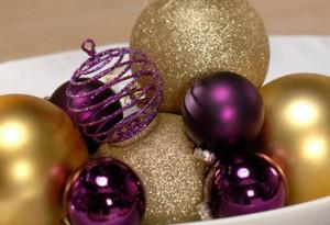 """Новогодняя сервировка стола - """"Золото и пурпур"""""""