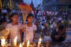 Первый день Нового года в Бирме