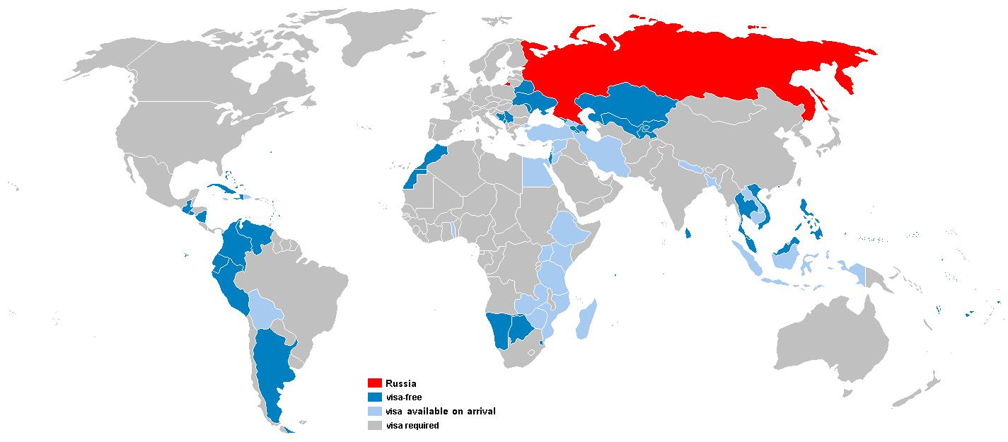 Безвизовые страны для граждан России