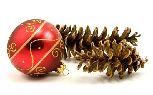 Новогодняя ёлка из шишек