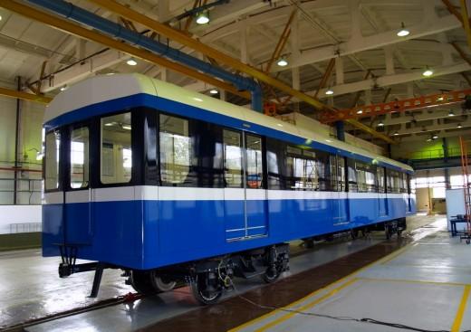 В Петербурге презентовали вагоны метро нового поколения