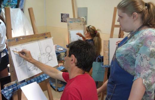Чему можно научиться на курсах рисования