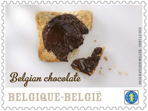 В Бельгии выпустили марки со вкусом и запахом шоколада
