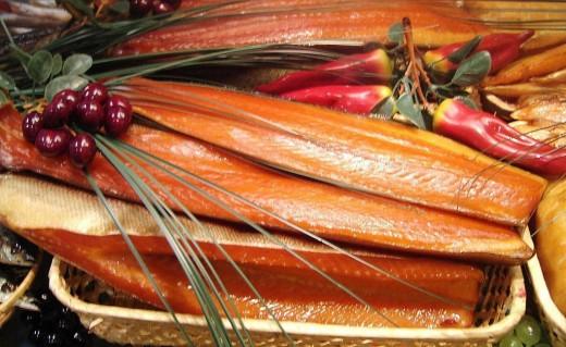 Вяленые рыба и икра