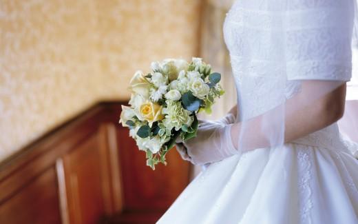 Белый свадебный букет: нежная классика