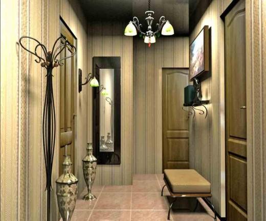 Выбор обоев для прихожей комнаты