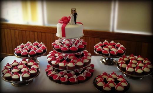 Кексы вместо свадебного торта?