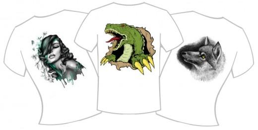 Типы печати рисунков на футболках