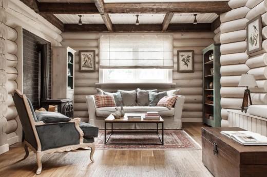 Благородство и комфорт в деревянном доме