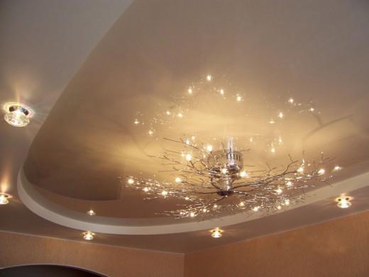 Светильник для натяжного потолка: разнообразие дизайна и цен