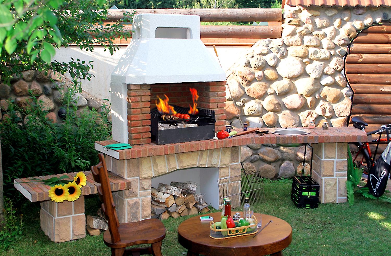 Печи-барбекю, камины-барбекю, грили-барбекю, садовые печи проект очага электрокамина