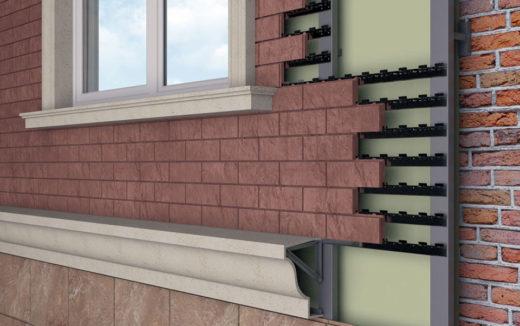 Вентилируемый фасад под кирпич: особенности и назначение