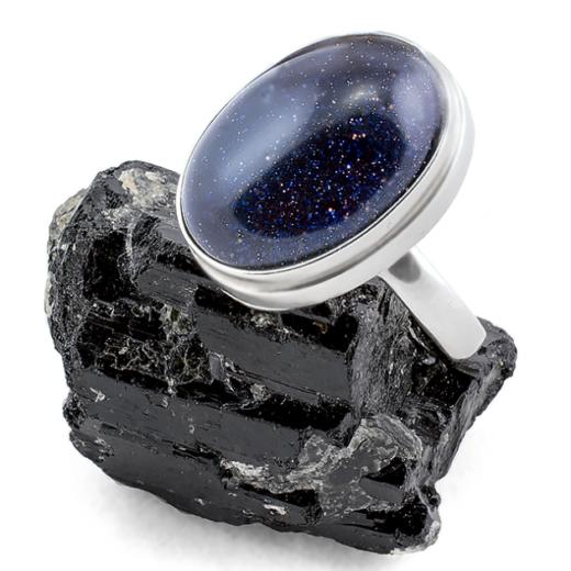 Серебряные кольца с авантюринами