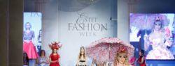 Певица Татьяна Тузова представила свою первую коллекцию платьев из цветов на Московской неделе моды