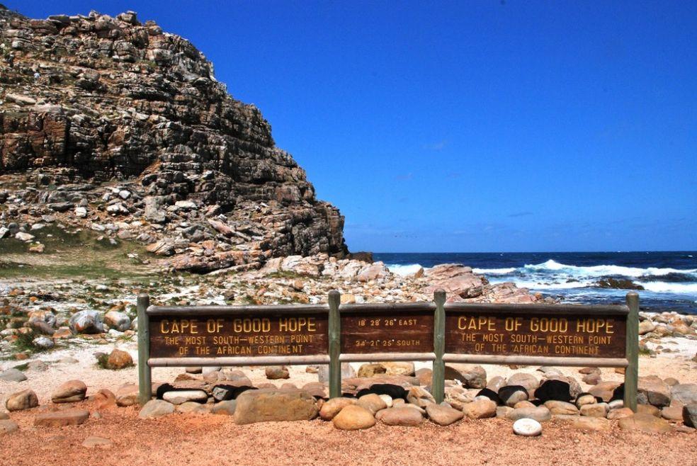 Мыс Доброй Надежды в Южной Африке