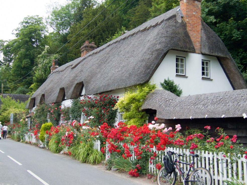 Коттеджа в Уеруэлл, деревне близ Андовера, Великобритания