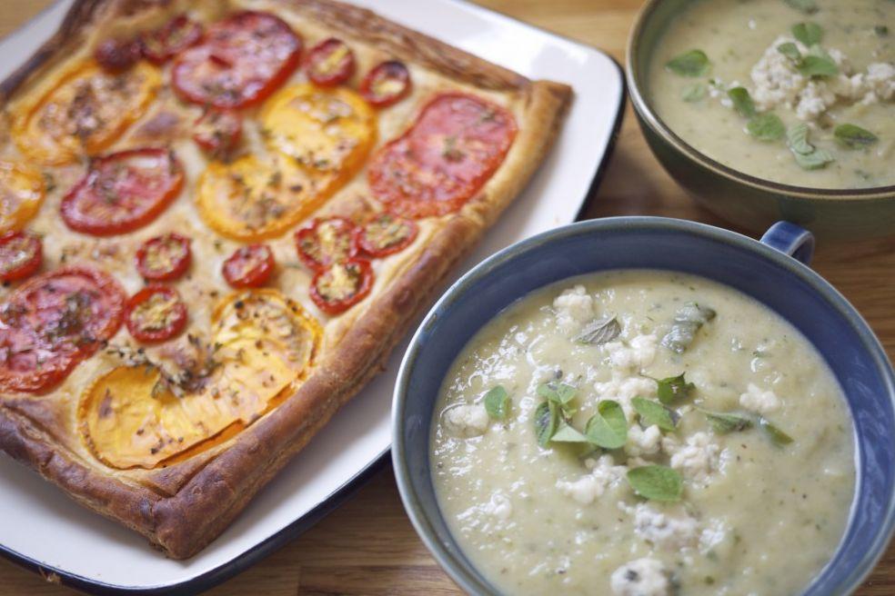 Сырный суп с цуккини