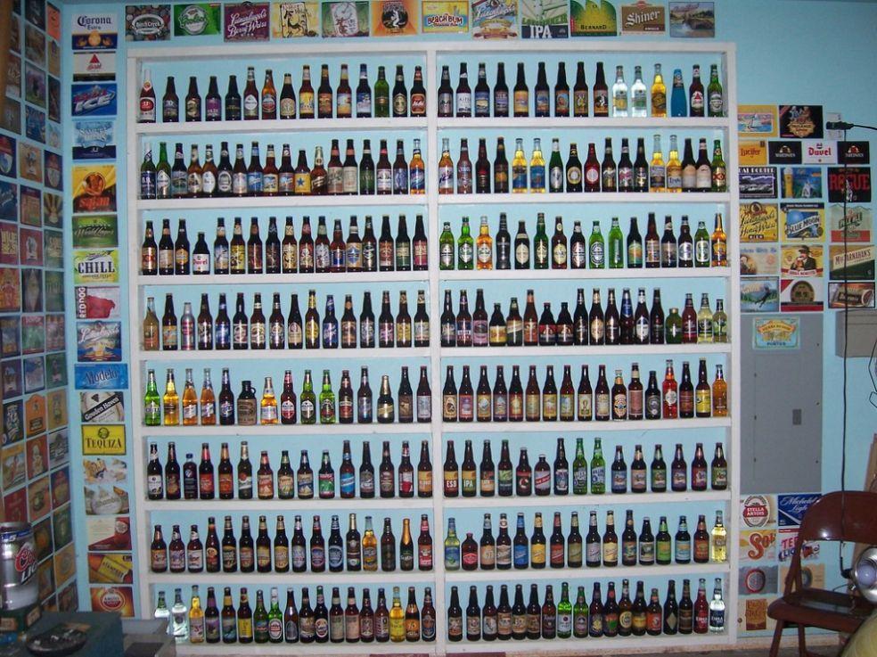 Коллекция пивных бутылок