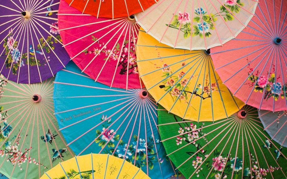 Китайские зонтики в Эпкоте, тематическом парке в Walt Disney World