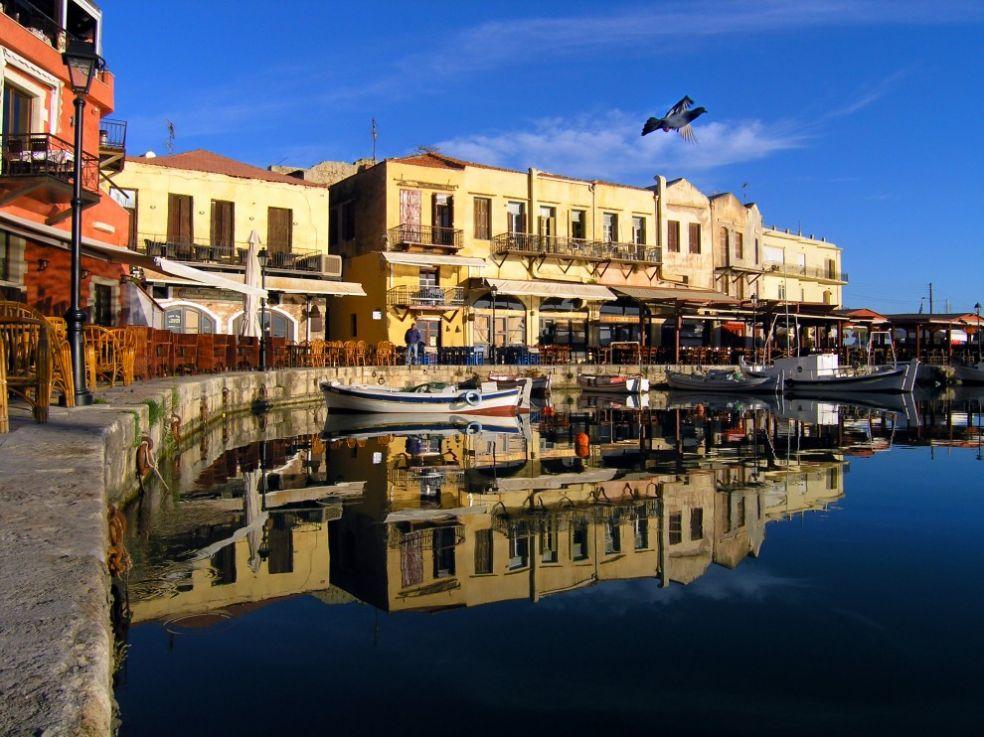 Гавань в городе Ретимно, Крит