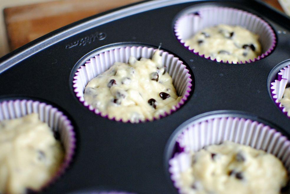 Кексы с шоколадом  фото-рецепт