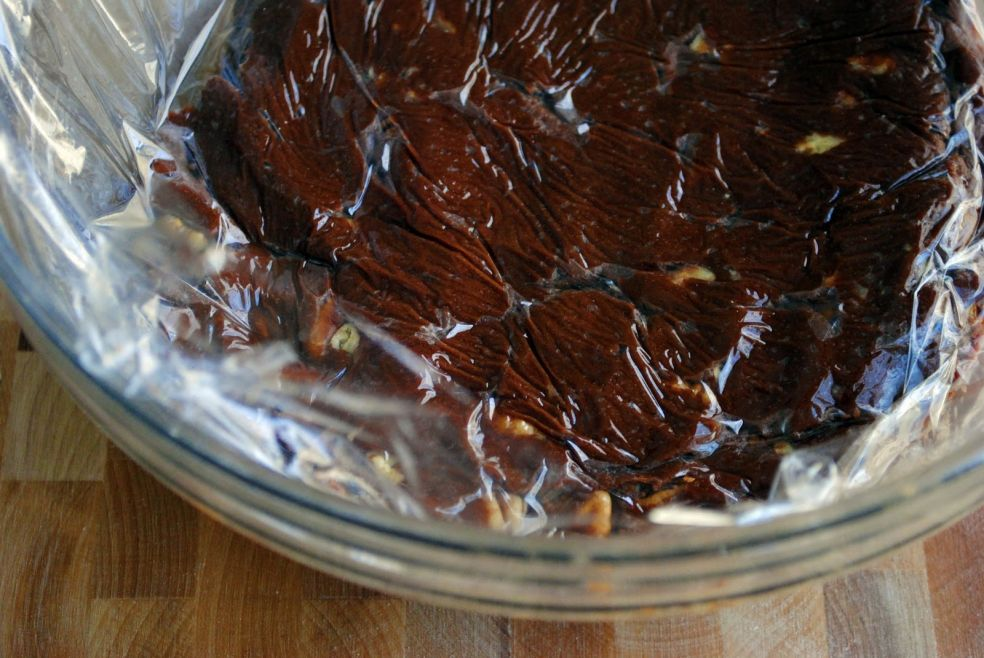Шоколадное печенье с пеканом фото-рецепт