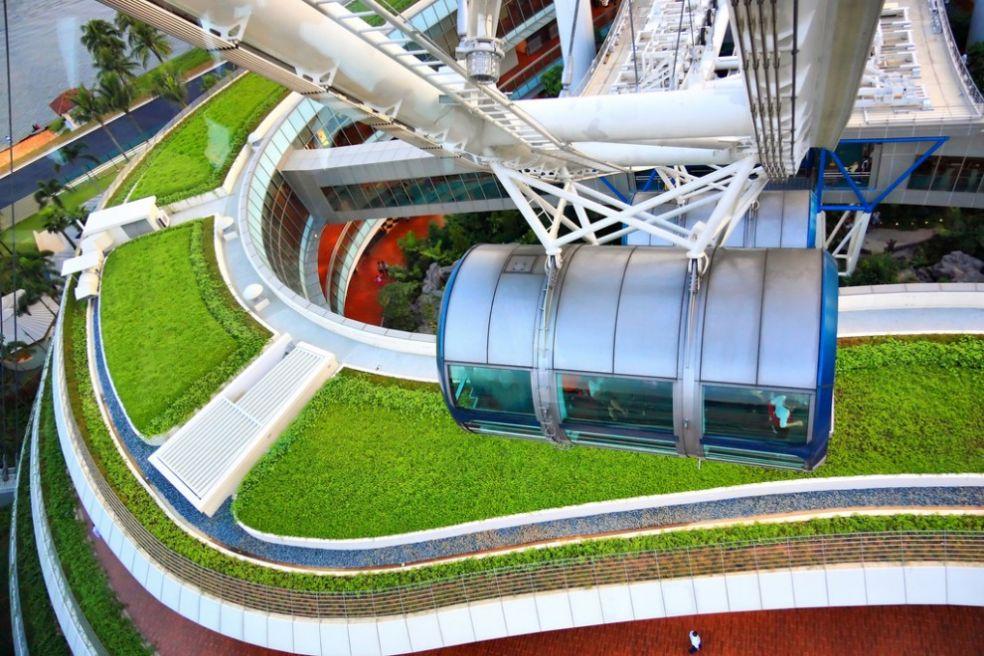 Зеленая крыша в Сингапуре