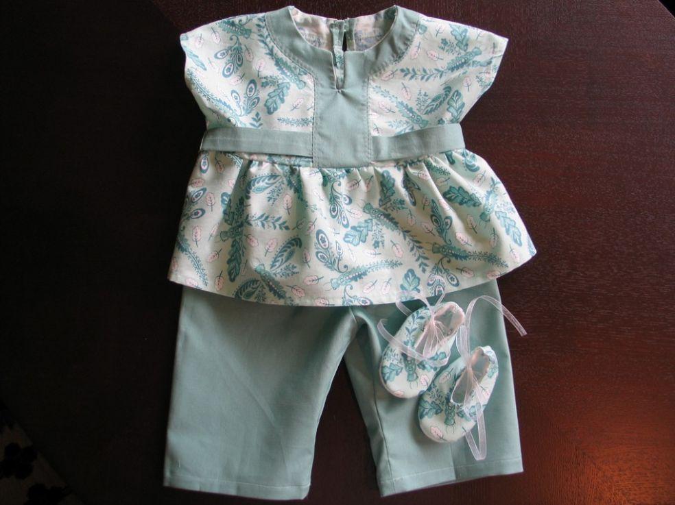 Льняной детский костюм