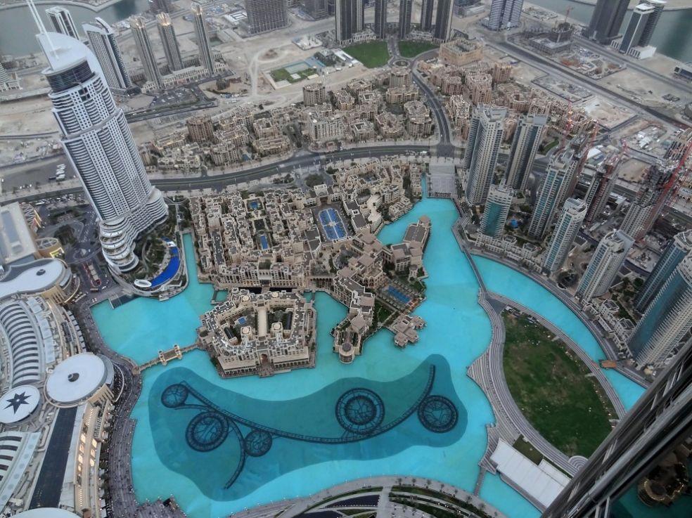 Вид с высоты 124 этажа Бурдж Халифа