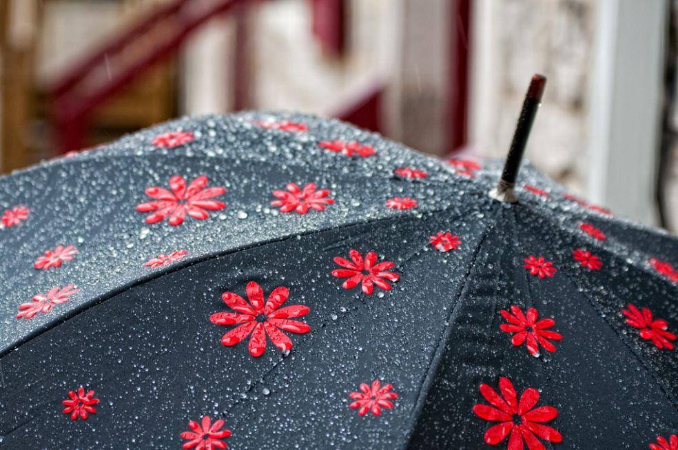 Зонтик зимой