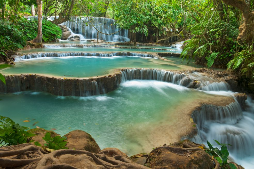 7. Водопады Тат Куанг Си, Луанг Прабанг, Лаос